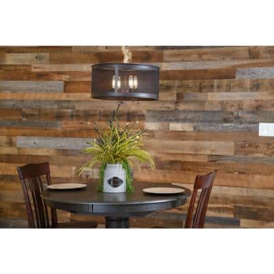 3/8 in. x 5 in. x Varying Length Gray and Brown Reclaimed Barnwood Boards (250 sq. ft./Pack)