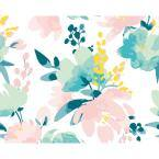 Delicate Water Colour Flowers Wall Mural