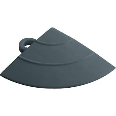 4.5 in. x 2.75 in. Slate Grey Polypropylene Corner Edging for Diamondtrax Home Modular Flooring (4-Pack)