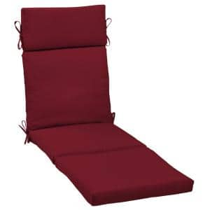 21 x 72 Caliente Canvas Texture Outdoor Chaise Lounge Cushion