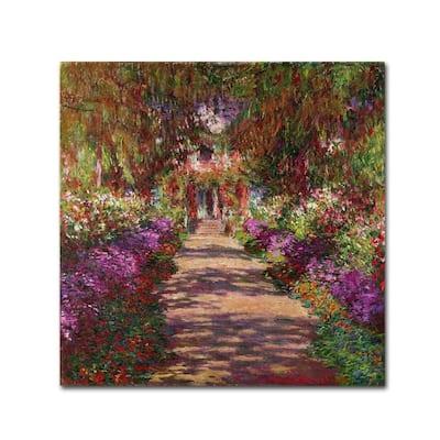 35 in. x 35 in. A Pathway in Monets Garden Canvas Art