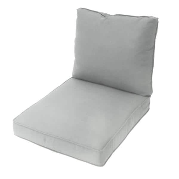 Spring Haven 25 In X 48 In Replacement Outdoor Lounge Chair Cushion In Wet Cement 7884 01208204 The Home Depot