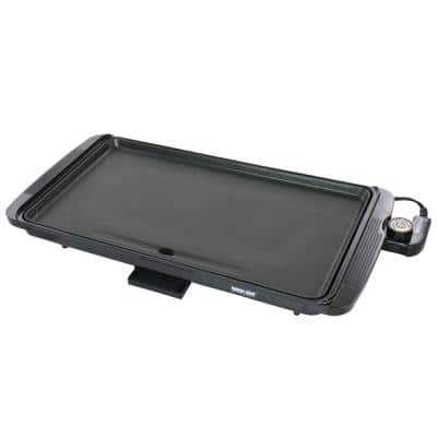 Family Size 180 sq. in. Black Electric Counter Top Grill/Griddle