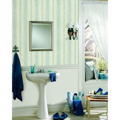 Dario Light Blue Textured Stripe Vinyl Peelable Roll Wallpaper (Covers 56.4 sq. ft.)