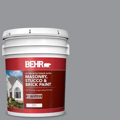 5 gal. #MS-82 Cobblestone Grey Satin Interior/Exterior Masonry, Stucco and Brick Paint