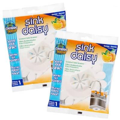 2 Count Sink Daisy Orange Scented Kitchen Sink Strainer