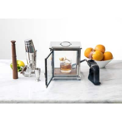 Crafthouse Stainless Steel with Glass Smoke Box with Smoker
