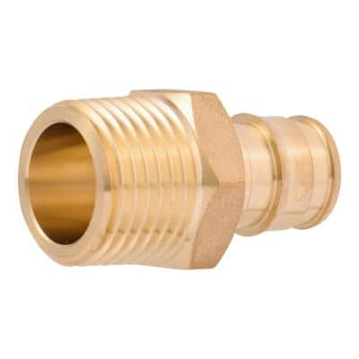 1/2 in. PEX-A x 1/2 in MNPT Brass Expansion Adapter