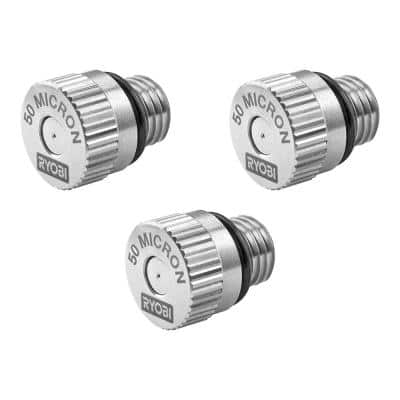 Electrostatic Sprayer 50 Micron Replacement Nozzle (3-Pack)