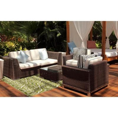 Patio Brights Contoy Green 5 ft. x 7 ft. Indoor/Outdoor Area Rug