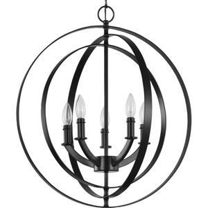 Equinox Collection Black Five-Light Sphere Pendant