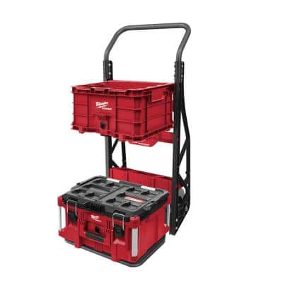 PACKOUT 20 in. 2-Wheel Utility Cart with Large Tool Box and Crate (3-Piece)