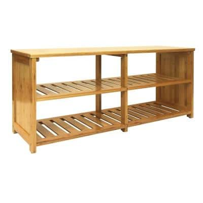 18.75 in. H x 42 in. W x 13 in. D Bamboo Entryway Storage Bench ( 10-Pair)