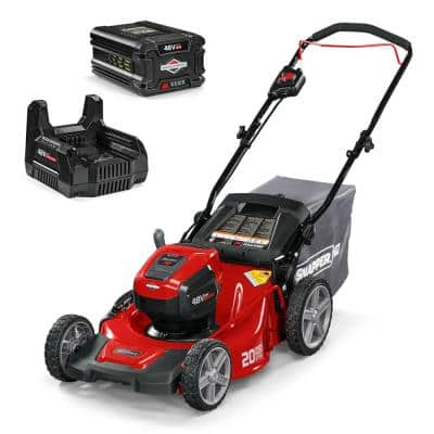 HD 20 in. 48-Volt Lithium-Ion Cordless Battery Walk Behind Push Mower with 5.0 Ah Battery/Charger Included