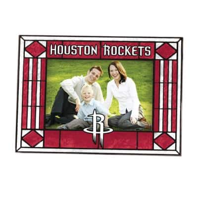 NBA -4 in. X 6 in. Gloss Multi Color Art Glass Picture Frame Rockets