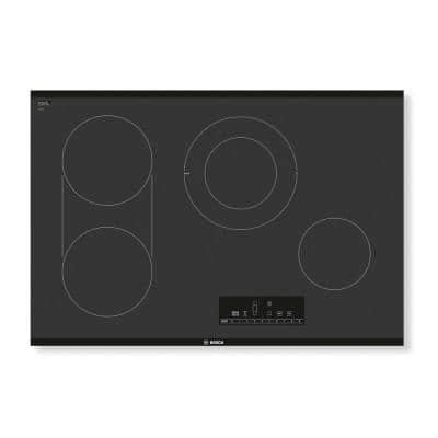 800 Series 30 in. Radiant Electric Cooktop in Black with 4 Elements including 3,600-Watt Element
