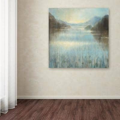 """35 in. x 35 in. """"Through the Mist Square"""" by Danhui Nai Printed Canvas Wall Art"""