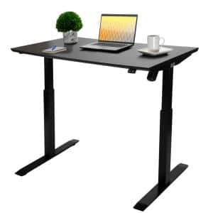 airLIFT 47 in. Black Steel Electric Sit-Stand Desk with Single Motor