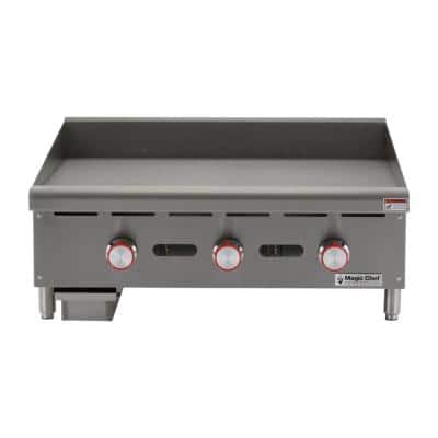 36 in. Commercial Manual Countertop Griddle