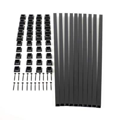 31 in. Snap and Lock Polycarbonate with Aluminum Baluster Kits Square (Case with 10 Kits)