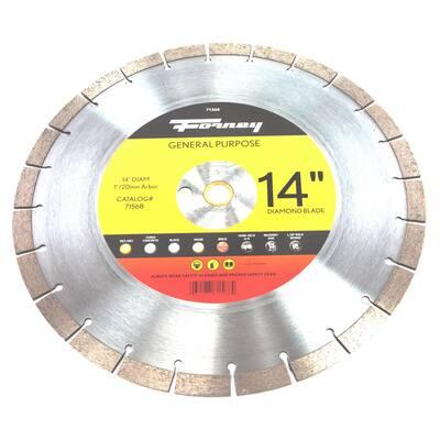 14 Premium Diamond High Speed Contractor Blade