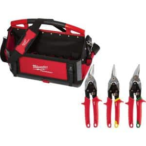 20 in. PACKOUT Tote with Aviation Snips (3-Pack)