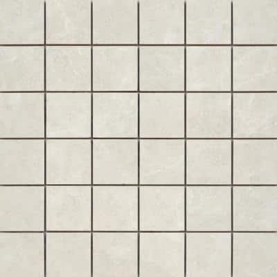 Havana White 12.28 in. x 12.28 in. Squares Matte Ceramic Mosaic Tile (1.048 sq. ft./Each)