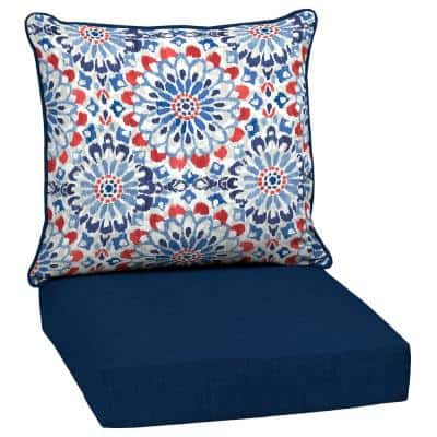 24 in. x 24 in. Clark 2-Piece Deep Seating Outdoor Lounge Chair Cushion