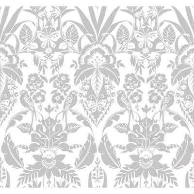 Botanical Damask Grey Spray and Stick Roll (Covers 60.75 sq. ft.)