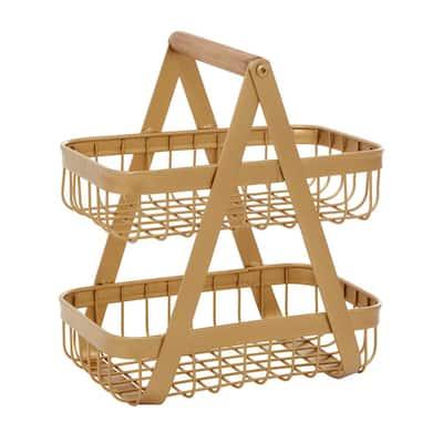 Yellow Modern Metal Storage Basket