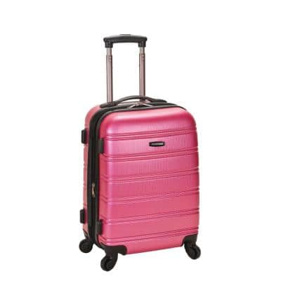 Melbourne 20 in. Expandable Carry on Hardside Spinner Luggage, Pink