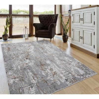 Emojy Murphy Wheat 9 ft. 10 in. x 13 ft. 2 in. Oversize Area Rug