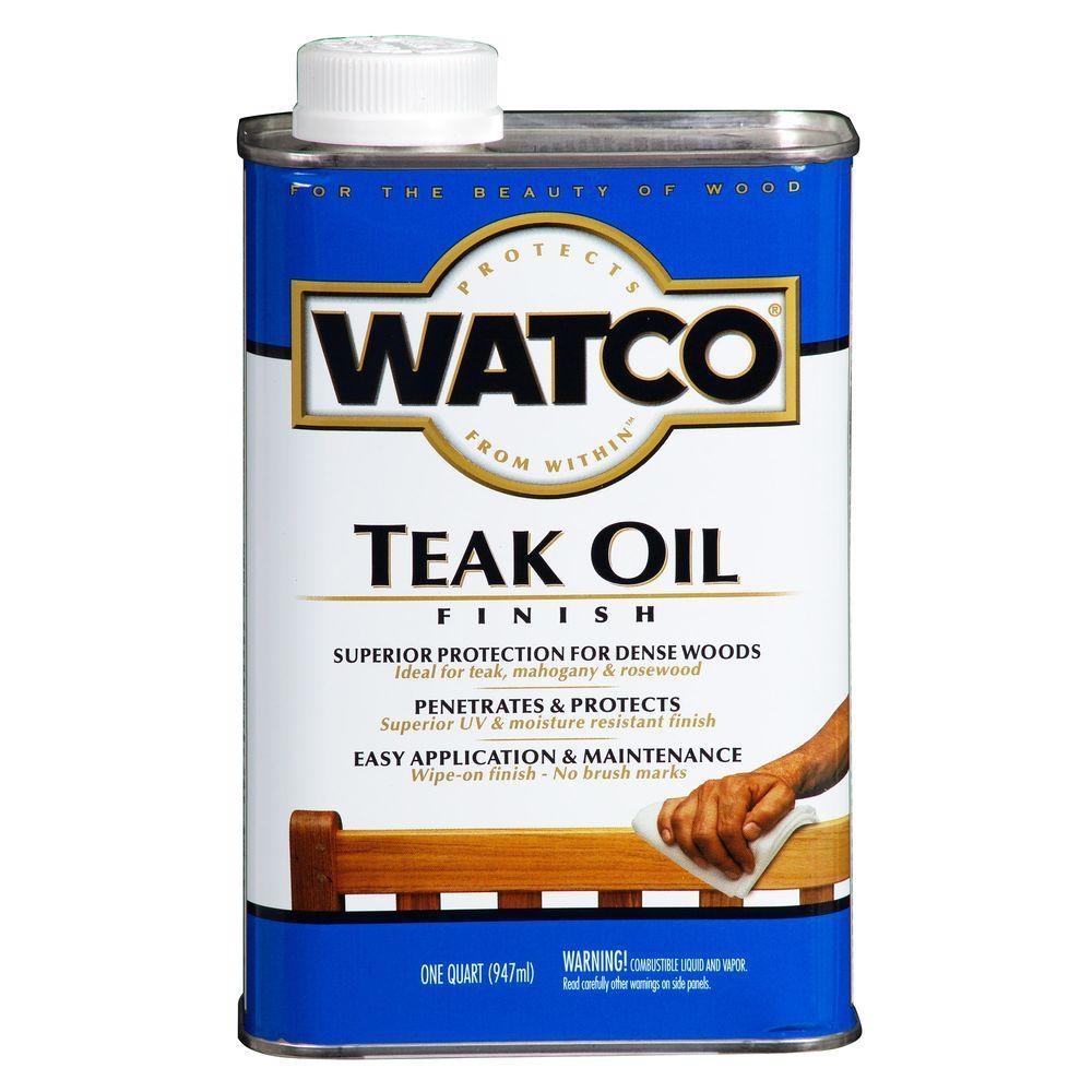 1 qt. Clear Matte Teak Oil