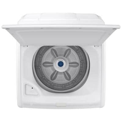 27 in. 4.0 cu. ft. Capacity White Top Load Washer, Agitator, with Soft Close Lid