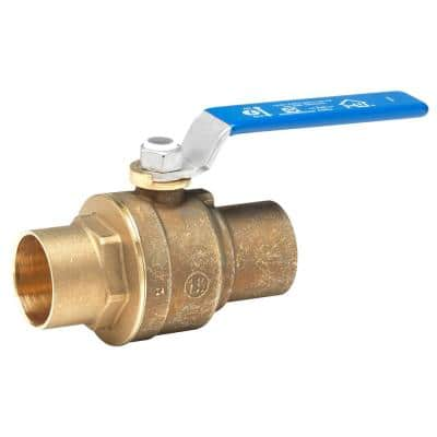 1-1/2 in. Lead Free Brass Sweat x Sweat Ball Valve
