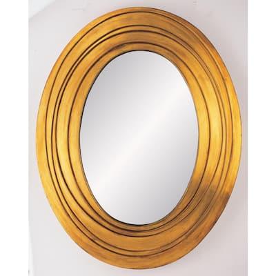 Medium Oval Gold Classic Mirror (24.75 in. H x 31.5 in. W)