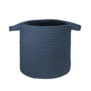 16 in. x 16 in. x 20 in. Dusk Blue Addison Braided Laundry Basket