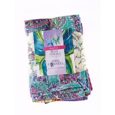 Paint Box Purple Hues Cotton Kitchen Dish Towels (Set of 6)