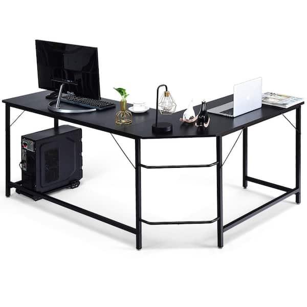 Corner Computer Desk Home Workstation Black Office Furniture PC Study Desktop