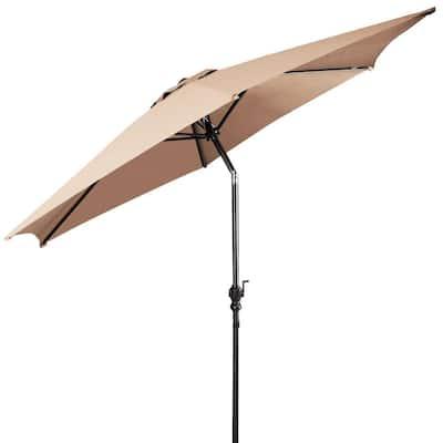 9 ft. Cantilever Outdoor Patio Umbrella with Crank in Beige