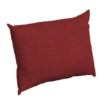 Ruby Leala Texture Rectangle Outdoor Throw Pillow