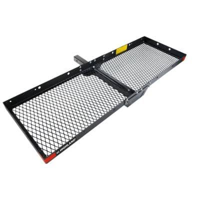 500 lbs. Capacity Tray Style 60 in. Hitch Cargo Carrier with 2 in. Receiver