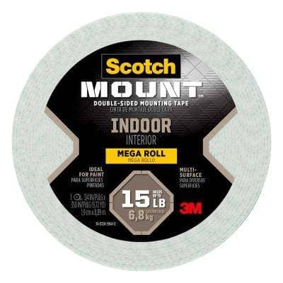 Scotch 0.75 in. x 9.72 yds. Permanent Double Sided Indoor Mounting Tape