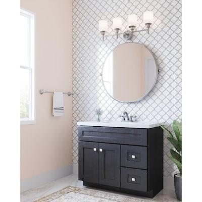 Hathaway 4 in. Centerset 2-Handle Bathroom Faucet in Satin Nickel