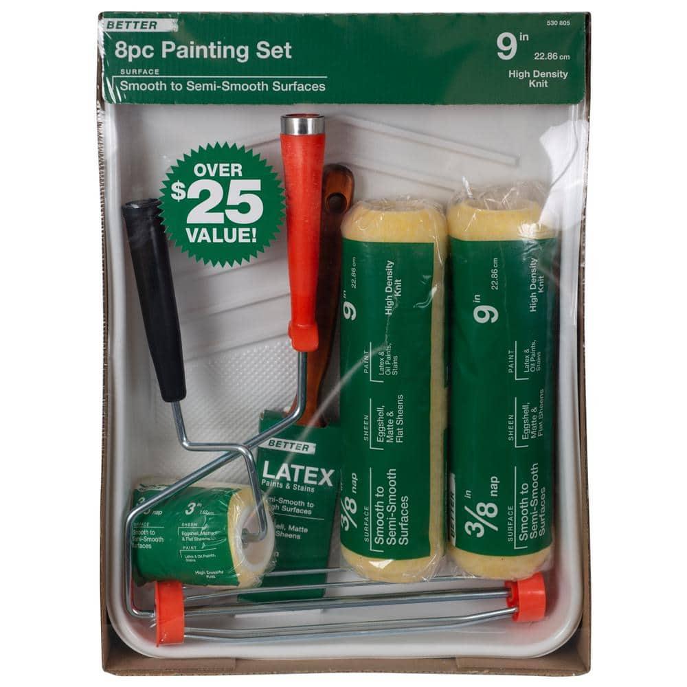 Prodec Premier Paint Brush Set 8 Pièce Synthétique Brosses À faire soi-même Home Work Paint Set
