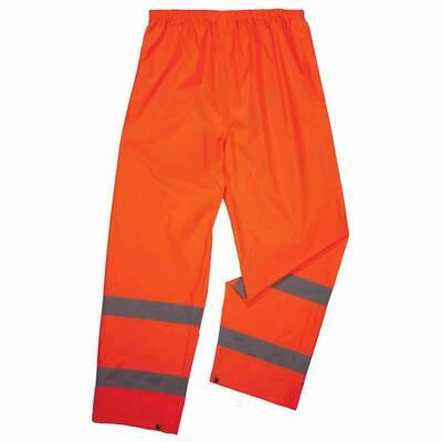 GloWear 8916 Men's Medium Lime Lightweight Hi-Vis Class E Rain Pants