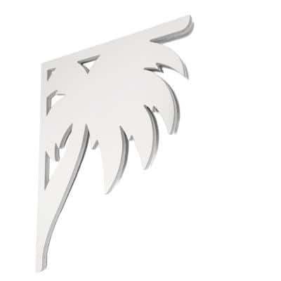 Decorative 16 in. Paintable PVC Palm Mailbox or Porch Bracket