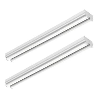 8 ft. (96 in.) 71- -Watt Equivalent 2-Linear Integrated LED White Garage Strip Light Fixture, 4000K 8200 Lumens (2-Pack)