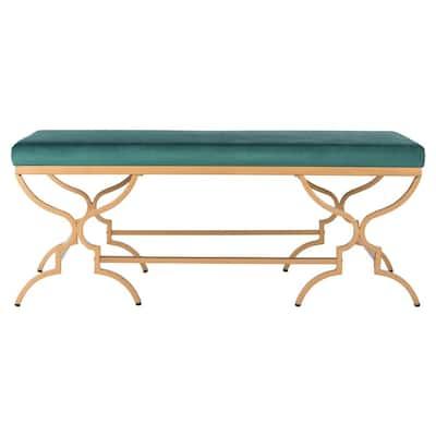 Juliet Emerald/Gold Bench