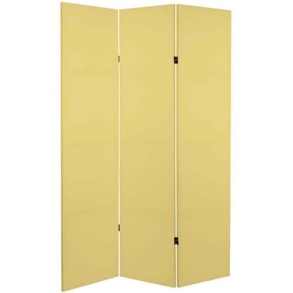Laguna Yellow 6 Ft Printed 3 Panel Room Divider Can Col Lagu The Home Depot